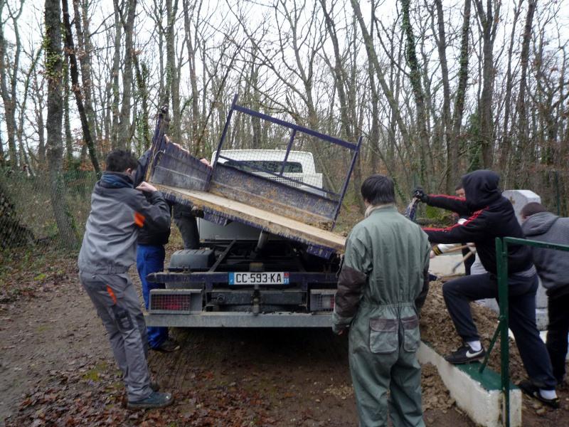 Arrivée du camion